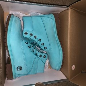 Limited Edition Blue Timberland Boots